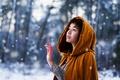 Картинка зима, взгляд, девушка