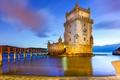 Картинка море, пейзаж, Португалия, архитектура, Лиссабон, башня Белен