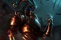 Картинка рога, шипы, From Software, RPG, ночь, свечение, Namco Bandai Games