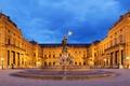 Картинка Германия, Frankoniabrunnen, площадь, скульптура, ночь, Вюрцбург, Бавария
