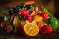 Картинка апельсин, клубника, лайм, фрукты