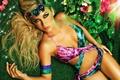 Картинка трава, девушка, цветы, модель, макияж, браслеты, Lina Posada
