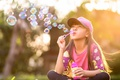Картинка настроение, пузыри, девочка