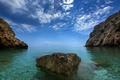 Картинка море, небо, скалы, камень, Хорватия