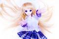 Картинка игрушка, юбка, кукла, аниме, рубашка, длинные волосы, белый фон