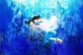 Картинка аниме, арт, девочка, парень, Хаяо Миядзаки, дух реки, Haku