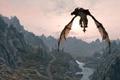 Картинка полет, дракон, игра, The Elder Scrolls V Skyrim