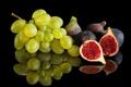 Картинка отражение, виноград, инжир