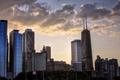 Картинка небо, тучи, город, небоскребы, Чикаго, Иллиноис