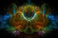 Картинка цветок, лучи, линии, фрактал, объем, симметрия