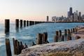 Картинка город, озеро, берег, небоскребы, Чикаго