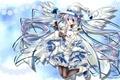 Картинка девушка, заяц, крылья, шляпа, аниме, арт, vocaloid