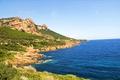 Картинка море, камни, скалы, побережье, Франция, Saint-Raphael