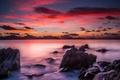 Картинка закат, камни, тропики, пейзаж, море