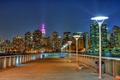 Картинка ночь, огни, лампы, Нью-Йорк, Эмпайр-стейт-билдинг, мол, Соединенные Штаты