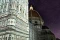 Картинка небо, звезды, ночь, Италия, Флоренция, Дуомо, колокольня Джотто