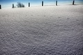 Картинка зима, снег, забор