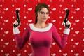 Картинка девушка, пистолеты, кофточка, lara croft