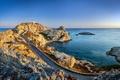 Картинка road, stones, water, sea, lighthouse
