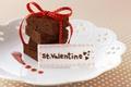Картинка скатерть в горошек, Торт, ленточка, валентинка