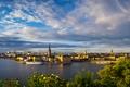 Картинка река, дома, корабли, Швеция, набережная, Stockholm