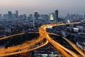 Картинка city, night, highway, ligths