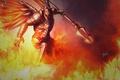 Картинка оружие, огонь, крылья, арт, Diablo, доспех, Imperius
