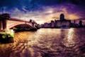 Картинка город, London, Blackfriars Bridge