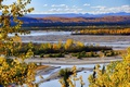 Картинка осень, горы, река, долина, Аляска, США
