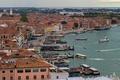 Картинка ночь, огни, дома, Италия, панорама, Венеция, вид с кампанилы