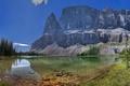 Картинка скалы, деревья, панорама, горы, небо, озеро