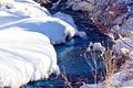Картинка снег, ветки, ручей, фото, bo0xVn