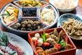 Картинка лотос, овощи, роллы, морепродукты, японская кухня, блюда, ассорти