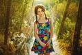 Картинка платье, лето, косички, цветочки, кудряшки, прелестница, солнечно