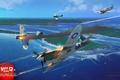 Картинка огонь, Мицубиси, стрельба, Mitsubishi, американский, японский, Зеро