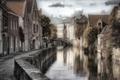 Картинка Bruges, канал, Бельгия, Брюгге