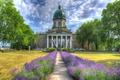 Картинка цветы, hdr, деревья, кусты, Лондон, военный, лаванда