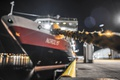Картинка ночь, город, корабль, порт