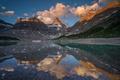 Картинка облака, снег, горы, природа, озеро, отражение