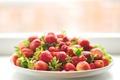 Картинка клубника, много, ягоды, миска