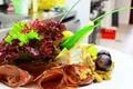 Картинка виноград, бекон, салат, закуска