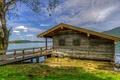 Картинка Германия, Бад-Висзе, Бавария, лодочный домик, озеро Тегернзе