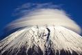 Картинка облака, снег, гора, Япония, Фудзияма