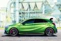 Картинка зеленый, Mercedes-Benz, мерседес, AMG, амг, A-class, W176