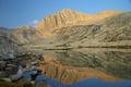 Картинка закат, горы, отражение, озеро, небо