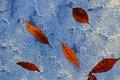 Картинка осень, стена, листья