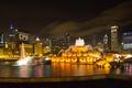 Картинка США, Иллинойс, город, Illinois, Chicago, Chicago's Buckingham Fountain, небоскребы