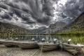 Картинка горы, озеро, лодки