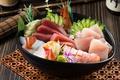 Картинка рыба, огурец, креветки, морепродукты, лосось, тунец