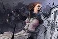 Картинка девушка, щит, крик, diablo 3, demons, crusader, Diablo 3: Reaper of Souls